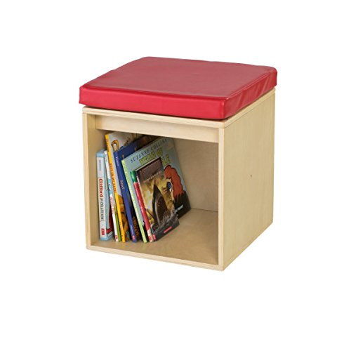 Guidecraft Sit and Store Cube - Toddlers Classroom Stool with Storage, School Supply Kids' Furniture