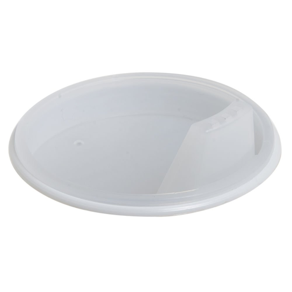 Maddak Ableware Clear Plastic Thumbs Up Cup Lid - 2 3/4 Dia x 3/4 H