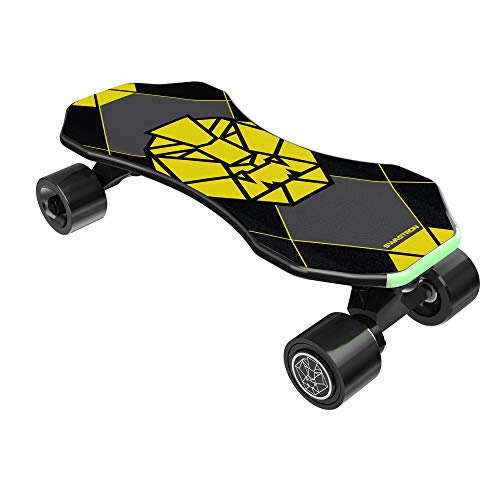 Swagtron Swagskate NG3 Electric Skateboard for Kids, Teens | Kick-Assist A.I. Smart Sensors | Mini E-Cruiser Skateboard w/Move-More/Endless Mode | 9' Deck 72mm Wheels