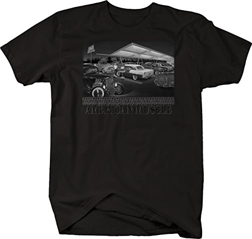 Bold Imprints Retro American Muscle Classic Hotrod Car Truck Drive-In Cruise Tshirt 5XL