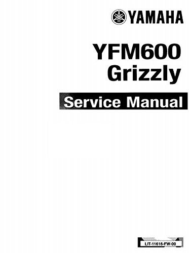 amazon com yamaha grizzly 600 yfm600 1998 1999 service manual rh amazon com yamaha yfm 600 grizzly service manual YFM Cartoon