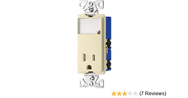 Light Almond EATON Wiring TR274LA 3-Wire Receptacle Combo Single-Pole Switch with Tamper Resistant 2-Pole