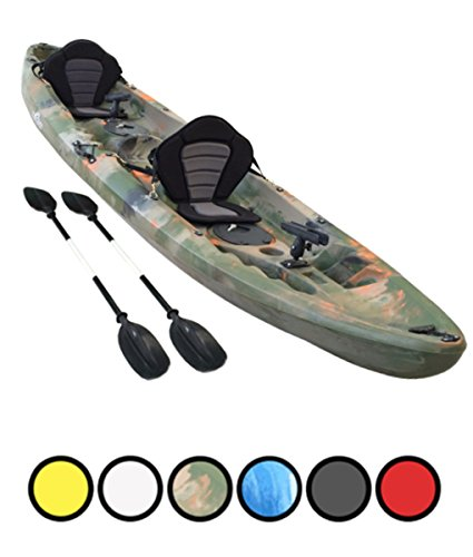 Bluefin Tandem 2+1 Sit On Top Fishing Kayak| With Rod Holders, Storage...