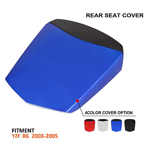 (AnXin Motorcycle Blue Rear Seat Cowl Passenger Pillion Fairing Tail Cover For Yamaha R6 2003-2005)