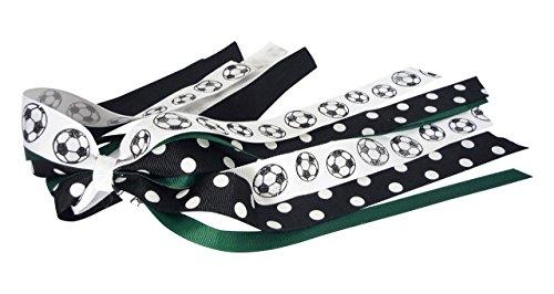 Match Team Colors Soccer Glitter Hair Ribbon Streamer Bow by Bow Flip Flops
