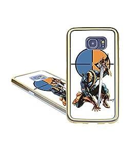 Premium Design Funda Case for Samsung Galaxy S6 Edge (Not Fit for S6), DC Comic Deathstroke Anti-Scratch Non-Slip Ultra Thin Back Skin Funda Case Cover