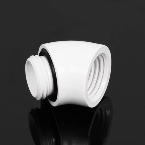 Barrow 45 Degree Angle Fitting Adapter G1//4 Thread F-M White Version