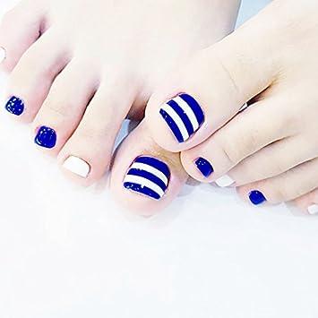Amazon Fashion 24pcsset Navy Blue And White Stripes Design