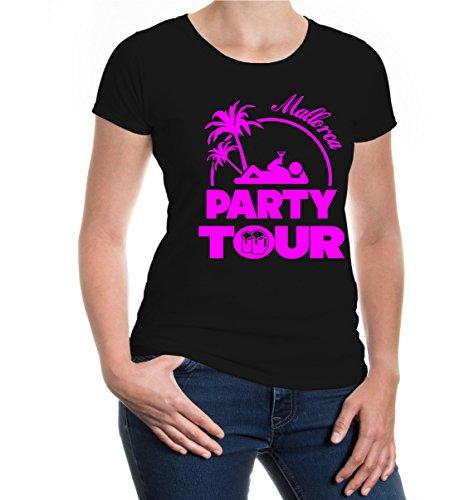 Girlie T-Shirt Party Tour-Mallorca Black
