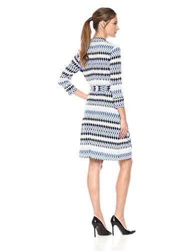 Sleeve Quarter Geo amp; Dress Women's Patterned Ro Lark Wrap Three ITaqxXq1
