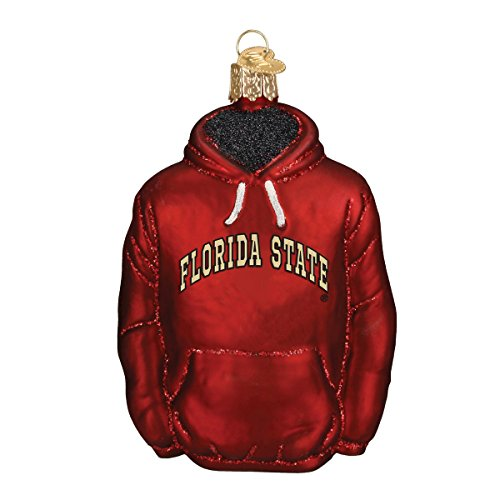 - Old World Christmas Ornaments: Florida State Hoodie Glass Blown Ornaments for Christmas Tree