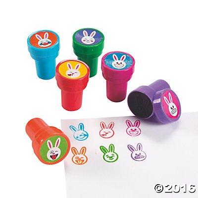 Emoji Face Bunny Stampers - 24 ct (Bunny Emoji)