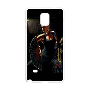 Flamenco-Dancer Samsung Galaxy Note 4 Cell Phone Case White Phone cover F7614659