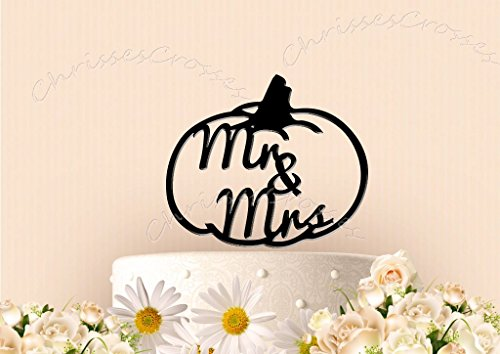 Mr and Mrs Pumpkin Fall Cake Topper]()