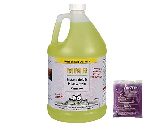 MMR Pro Mold Killer and Mold/Mildew Stain Remover Combo Pack-1 Gallon Instant...