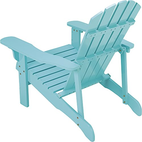 Leigh Country Classic Turquoise Painted Wood Adirondack Chair