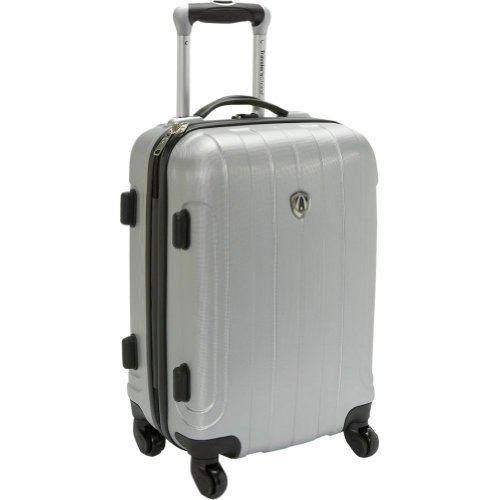 Traveler's Choice Cambridge 20 in. Hardsided Spinner (Silver Grey), Bags Central