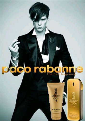 1 Million Travel Set for Men by Paco Rabanne (Eau De Toilette 3.4 oz. + Shower Gel 3.4 oz.)
