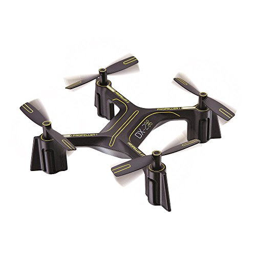 Sharper Image Rechargeable DX-2 Stunt Drone – 2.4 GHz Black