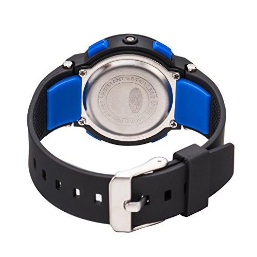Kid Watch For Boy Girl LED Multi Function Fashion Sport Outdoor Digital Wristwatch Dress Waterproof Alarm Black Green by AXSPT (Image #6)