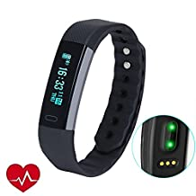 Fitness Tracker, LUCOG USB Smart Watch Waterproof Smart Wristband with Sleep Monitoring Tracking Touch Screen for IOS Android Phones