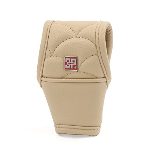 Covers Stick Gear - uxcell Universal Manual Automatic Car Gear Shift Knob Cover Boot Sleeve Beige