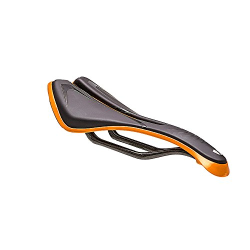 (Union - Sport Saale RXSEL Saddles |Carbon Composite Shell/Full Carbon Rail 130mm/140mm/150mm (Orange, 140))