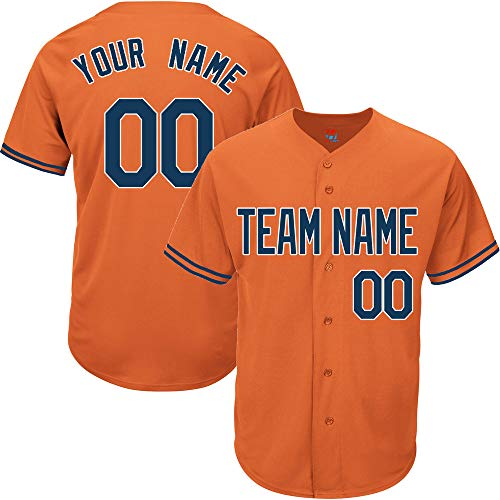 (Light Navy-White Custom Baseball Jersey for Women Replica Embroidered Team Player Name & Numbers,Navy-White Size S)