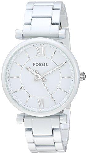 Fossil Women's ES4401 Carlie Analog Display Analog Quartz White ()