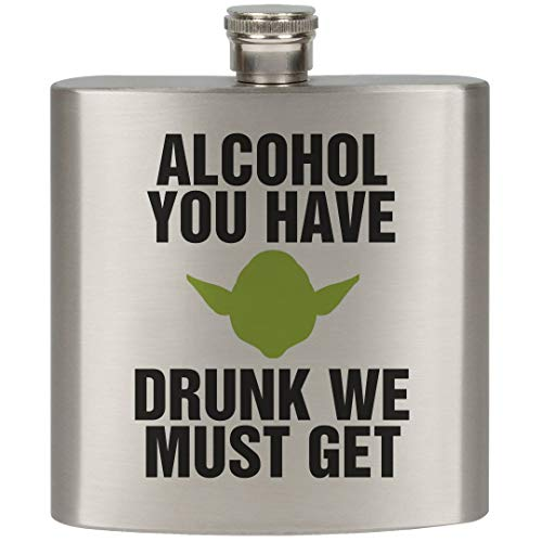 Yoda the Party Animal: 6oz Stainless Steel Flask by FUNNYSHIRTS.ORG
