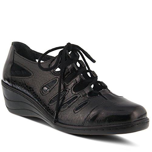 Zapato Con Cordones De Cuero Rayray Para Mujer Spring Step - Negro