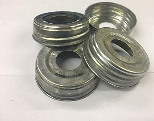 Industrial Rewind 12 Pre-Drilled Mason Jar Lids for