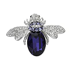 Swarovski Element Crystal Honey Bee Brooch