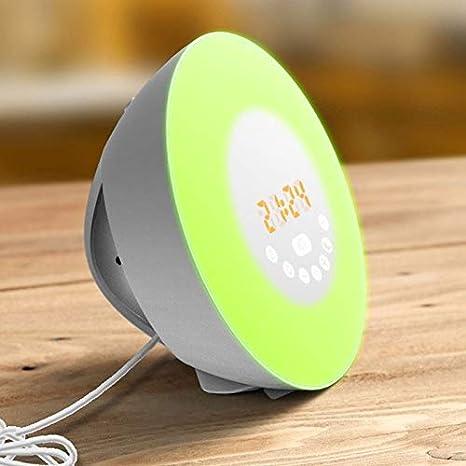 JJSPP Despertador Luz Despertador Lámpara Despertador Radio ...