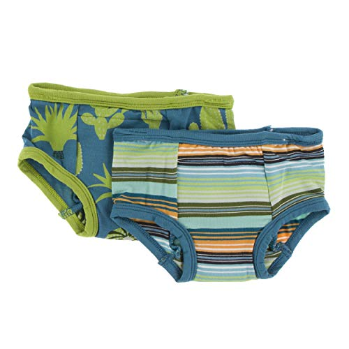 Kickee Pants Cancun Training Pants Set of 2 - Seagrass Cactus & Cancun Glass Stripe, ()