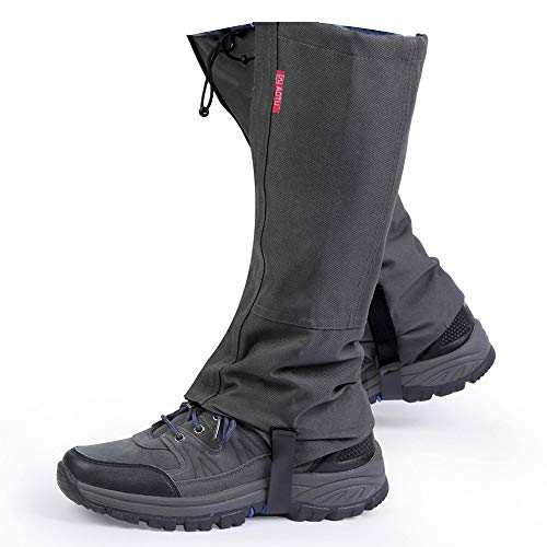 Winis Outdoor Hiking Camping Mountain Climbing Leg Gaiters, Oxford Polyester Waterproof Dustproof Antiwater Leg Cover, Breathable Anti-bite Leg Protection Guard Snake Guard Shields (Black)