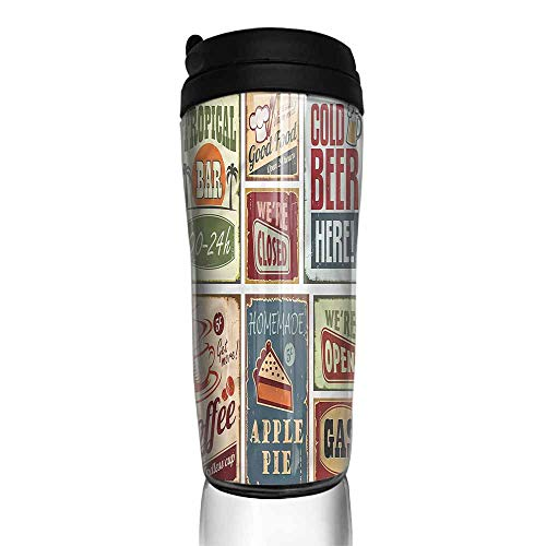 coffee cups with lids 12 oz 1950s,Vintage Bar Restaurant Signs 12 oz,cup warmer for coffee