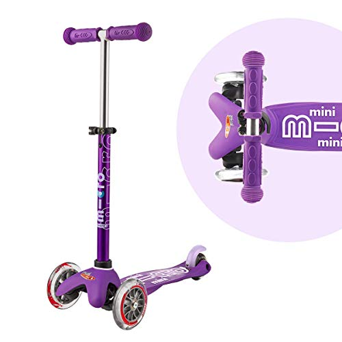 Micro Mini Deluxe 3-Wheeled, Lean-to-Steer, Swiss-Designed Micro Scooter for Kids, Ages 2-5 - Purple
