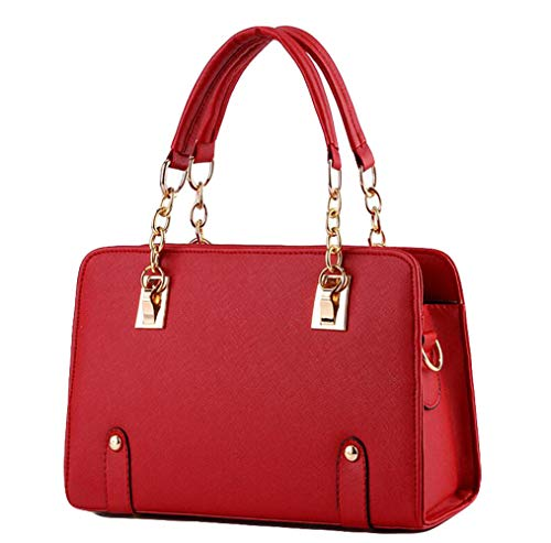 Totebag Tracolla Chain A black Borsa Fashion Yxiaol Lady Winered Tracolla wxafZ