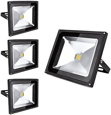 PrimLight 4 pcs 50W Impermeable Blanco Cálido Luz Foco LED ...