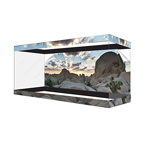 Habitat Wraps Desert Canyon Cloud Reusable Glass Tank Background, Multi-Color (Desert Background)