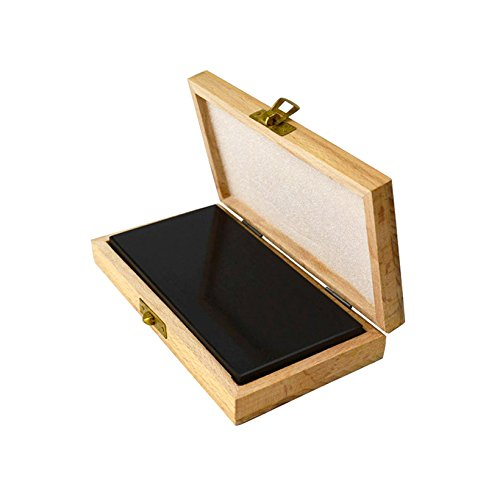 6'' x 3'' x 1/2'' Natural Testing Stone Set for Test Solutions Gold Silver Platinum Purity Karat Value w/Wooden Box Case