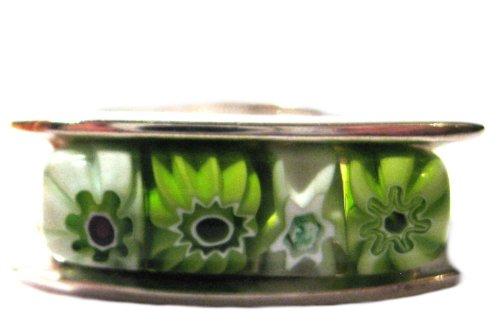 Ring 925 Sterling Silver Millefiori Murano Glass Italian Size 7.25
