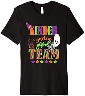 Kindergarten Halloween Teacher Student Cute Ghoul Team Premium T-shirt | Size S - 5XL