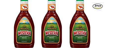 Wish-Bone, Original Western Dressing, 15 Ounce Bottle (Pack of 3)