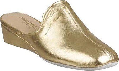 Oomphies Efter Lamo Kvinnor Granada Tofflor Metalliskt Guld