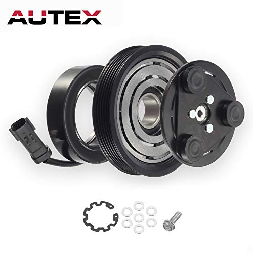 AUTEX AC A/C Compressor Clutch Assembly Kit 55111400AA Replacement for 2006 2007 2008 JEEP LIBERTY 2007 2008 DODGE - Clutch 2006