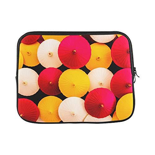 (Design Custom Paper Umbrella Retro Creative Antique Color Sleeve Soft Laptop Case Bag Pouch Skin for MacBook Air 11