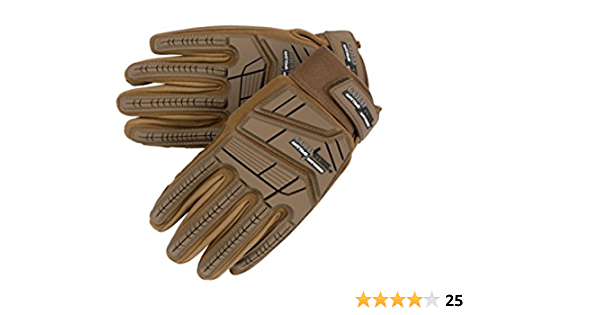 Coyote Tan Cold Steel GL21 Universal Protective Combat Tactical Gloves Medium