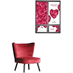 "longbuyer Wallpaper Wedding Invitation Cards Template with Abstract Polygonal Heart Mural 16""x20"""